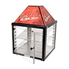 Hot Food Display Cabinet Two Door Pass Through, Two Wire Shelves