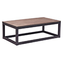 Zuo Modern 98123 Civic Center Rectangular Coffee Table, Distressed Natural
