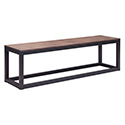 Zuo Modern 98124 Civic Center Bench, Distressed Natural