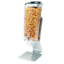 Standard Stainless Steel Dry Food Dispenser - 1 Gallon Capacity, Single Tube Unit