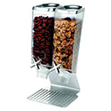 Standard Stainless Steel Dry Food Dispenser - 2 Gallon Capacity, Double Tube Unit