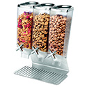Standard Stainless Steel Dry Food Dispenser - 3 Gallon Capacity, Triple Tube Unit