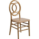 HERCULES INDESTRUCTO Series Gold Resin Royal Stacking Chair