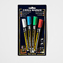 American Metalcraft BLSMA100V4CO Mini Tip Markers, 4Pk, Assorted