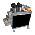 Cadco BC2L6 Mobileserv Beverage Cart, Standard Size