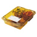 Tray 3 Compartment Lid Fits 853FH Tray - Case Of 24
