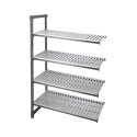 Camshelving Elements Add On Unit 4V 18X48X72, Brushed Graphite