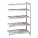 Cambro CPA183684V5PKG Camshelving Premium Add-On Unit, 5-Tier