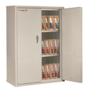 FireKing CF4436-MDPA Double door storage cabinet with end tab inserts