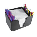 Co-Rect NH1272 2 Compartment Bar Caddy/Napkin Holder, CS of 12/EA