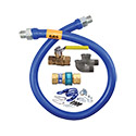 Dormont 16125KIT24 1 1/4 IN ID, 24 IN Length Moveable Gas Connector Kit, Connector, QD, Full Port Valve