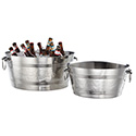"""American Metalcraft DWBT15 Party Tub, Double Wall, 3.8-Gallon, 7"""" H"""