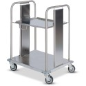 "Dinex DXIDRS2020 Mobile Rack Dispenser, Shelf Style 27.16""L X 28.35""D - Stainless Steel"