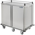 """Dinex DXTQ2T2D28 28 Tray Cart, Double Door, Two Trays Per Slide 56.14"""" X 36.26"""" X 50.55"""" - Stainless Steel"""