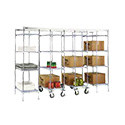 "Eagle Group MUK18-Z86 Mobile Unit Kit, Master Trak Overhead Track High-Density Storage System, for 18""D shelves"