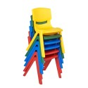 "ECR4KIDS ELR-15135-AS 12"" Assorted Resin Chair Pack, 6 Piece"