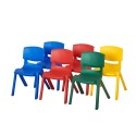 "ECR4KIDS ELR-15137-AS 16"" Assorted Resin Chair Pack, 6 Piece"
