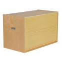 """ECR4KIDS ELR-17217 Fold and Lock 15 Tray Cabinet and 30"""" Storage"""