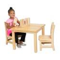 "ECR4KIDS ELR-071 30"" Square Hardwood Table with 18"" Legs"