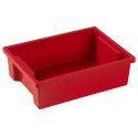 ECR4KIDS ELR-0724-RD Small Storage Bin without Lid - Red, CS of 8/EA