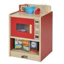 ECR4KIDS ELR-0749-RD Colorful Essentials Play Microwave - Red