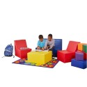 ECR4KIDS ELR-12649 Softzone 4 Piece Youth Seating Set