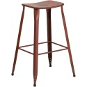 Flash Furniture ET-3604-30-DISRED-GG 30'' High Distressed Kelly Red Metal Indoor-Outdoor Barstool