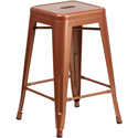 Flash Furniture ET-BT3503-24-POC-GG 24'' High Backless Copper Indoor-Outdoor Counter Height Stool