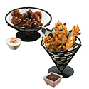 """American Metalcraft FBB7 Conical Basket, Wrought Iron, 7"""" Dia."""