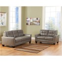 Benchcraft Paulie Living Room Set in Quarry DuraBlend