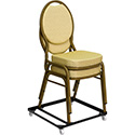 Flash Furniture Hercules Steel Stack Chair and Church Chair Dolly