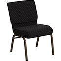Flash Furniture Hercules Extra Wide Church Chair w/Black Dotted Fabric
