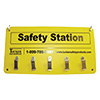 Franklin Machine Products 133-1596 - Cut Protection Safety Station Rack Used To Hang Safety Items Such As Cut Gloves And Aprons