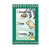 Franklin Machine Products 142-1502 - Keep It Clean Poster