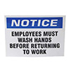 Franklin Machine Products 280-1857 - Must Wash Hands Label Sign