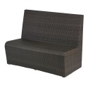 Florida Seating Crystal Beach Booth, Designed For Outdoor Use