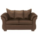 Signature Design by Ashley Darcy Loveseat in Cafe Fabric