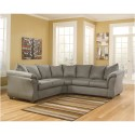 Signature Design by Ashley Darcy Sectional in Cobblestone Fabric