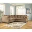 Signature Design by Ashley Darcy Sectional in Mocha Fabric