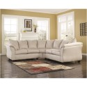 Signature Design by Ashley Darcy Sectional in Stone Fabric