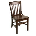 Florida Seating FLS-02S Side Chair, School House/Library Slat Back