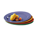 "G.E.T. Enterprises OP-621-MIX - Diamond Mardi Gras Platter, 21"" x 15"""
