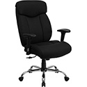 HERCULES Series 400 lb. Capacity Big & Tall Black Fabric Executive Swivel Office Chair with Height Adjustable Arms