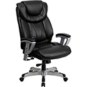 HERCULES Series 400 lb. Capacity Big & Tall Black Leather Executive Swivel Office Chair with Height & Width Adjustable Arms