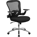 Mid-Back Black Mesh Executive Swivel Office Chair with Mesh Padded Seat and Height Adjustable Flip-Up Arms