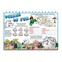"""Sherman Specialty H103 Oceans 10"""" X 14"""" Placemat, CS of 1000/EA"""