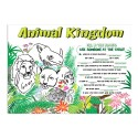 """Sherman Specialty H106 Animal Kingdom 10"""" X 14"""" Placemat, CS of 1000/EA"""