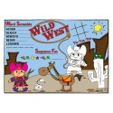 """Sherman Specialty H120 Wild West 10"""" X 14"""" Placemat, CS of 1000/EA"""