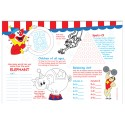 """Sherman Specialty H82W Circus 10"""" X 14"""" Placemat, CS of 1000/EA"""
