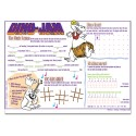 """Sherman Specialty H89W Dino Jam 10"""" X 14"""" Placemat, CS of 1000/EA"""